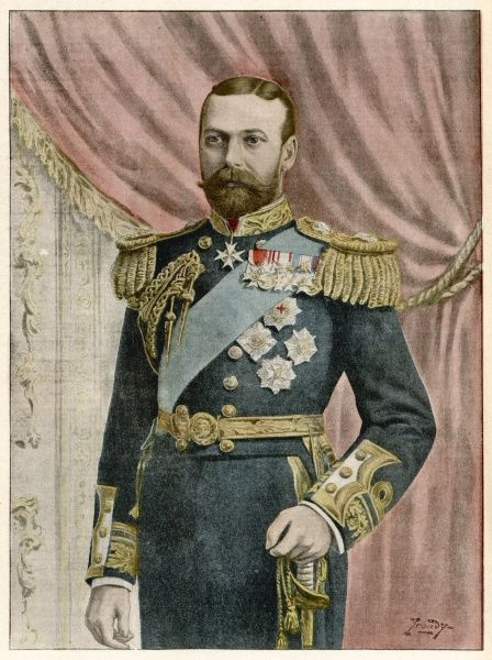 GEORGE V as Prince of Wales in 1901
