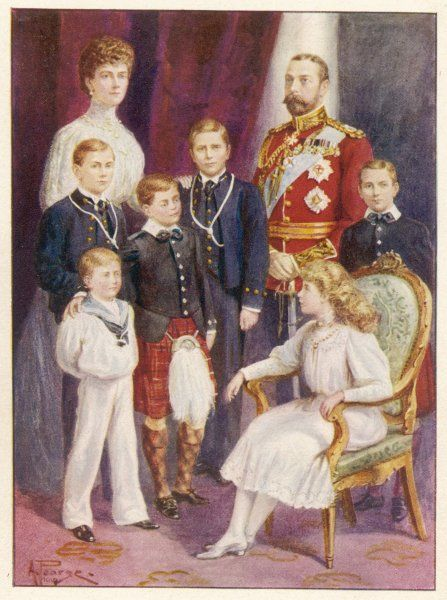 GEORGE V with Mary and their children