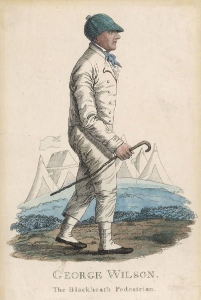 "GEORGE WILSON The ""Blackheath Pedestrian"", born in Newcastle 24 June 1766. Long distance walker and walking match champion"