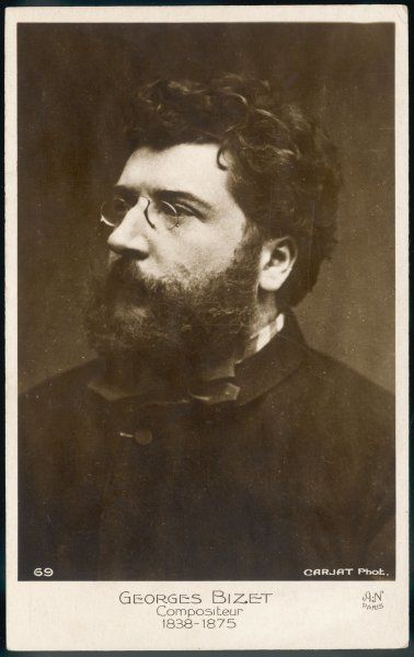 Portrait of the French composer, GEORGES BIZET (1838-1875)