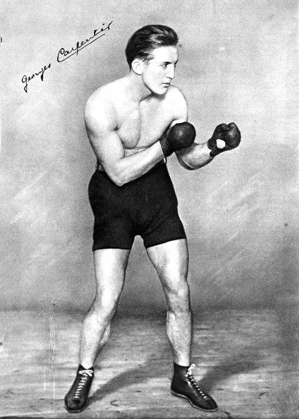 Photograph showing Georges Carpentier, the French boxer, pictured c.1912. Carpentier was European Champion in both welterweight and middleweight in 1912 and later challenged Jack Dempsey for the heavyweight championship of the world