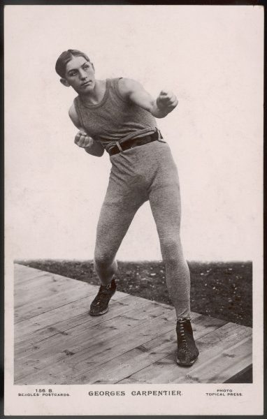 GEORGES CARPENTIER French boxer, considered the greatest European boxer of all time