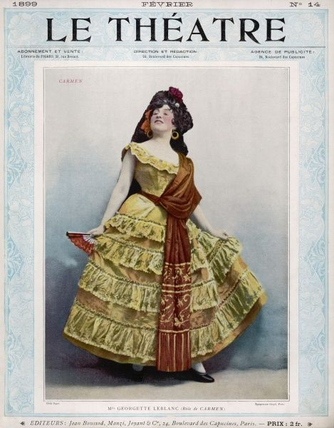 GEORGETTE LEBLANC French opera singer, in the role of Carmen