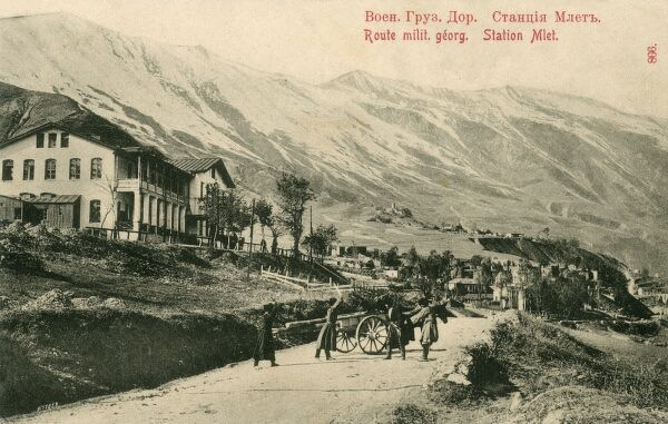 The Georgian Military Road is the historic name for a major route through the Caucasus from Georgia to Russia. Station at Mlet
