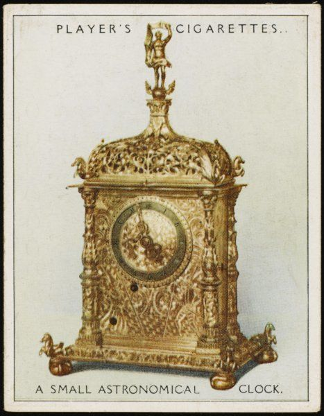 Small astronomical clock made at Munich but now in the Victoria & Albert museum, London