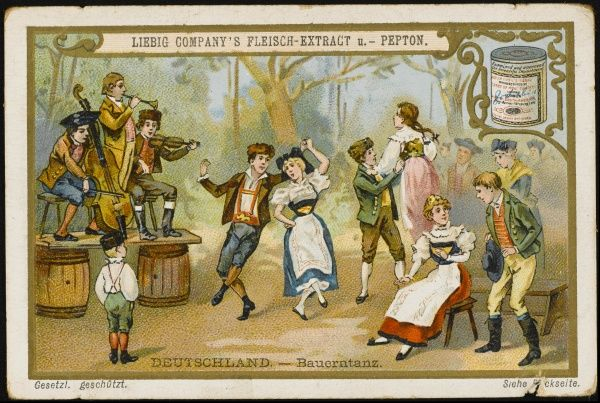 Country dance in a German village