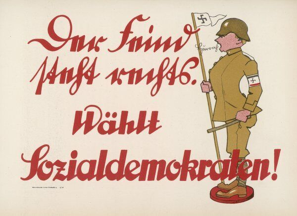 Poster for the German social democratic party
