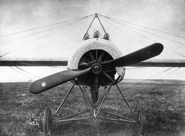 A German Fokker E IV single-seater fighter monoplane with a 160 hp engine, used during the First World War. This is a special three-gun model built for Max Immelmann. Date: 1915-1918
