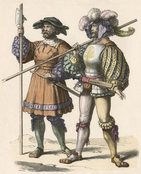 German foot soldiers Date: circa 1515