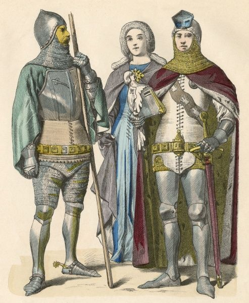 German knights & lady Date: 1371 - 1393