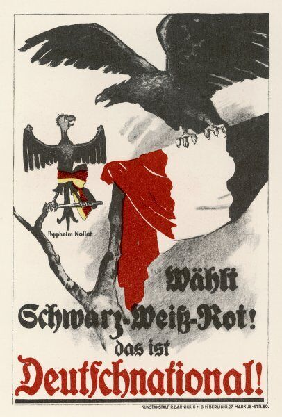Poster for the Deutschnational Party showing eagles