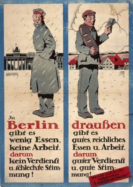 German poster encouraging soldiers to leave Berlin