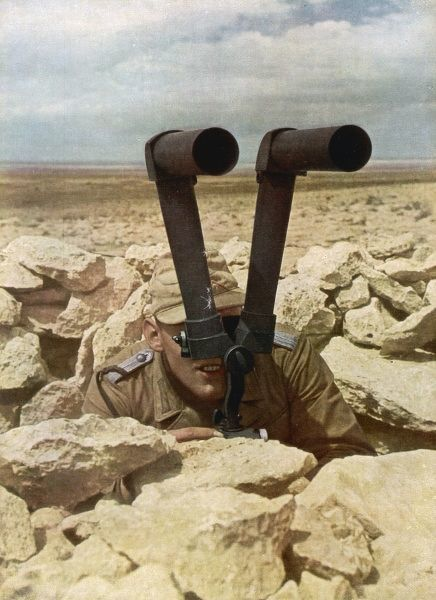Telemetric periscope used by a German soldier during the Libyan campaign, World War Two