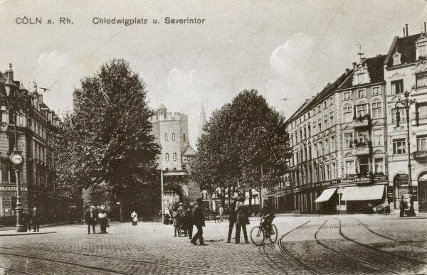 Germany - Cologne (Koln) - Chlodwigplatz and the Severintor Date: circa 1910s