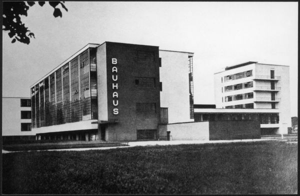 The Bauhaus building in Dessau, manufacturing city in eastern Germany. The building was built in 1925 - 26 by the German architect Walter Gropius