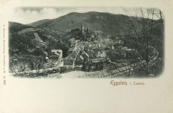 Eppstein, a town in the Main-Taunus-Kreis, in Hesse, Germany. Date: circa 1898