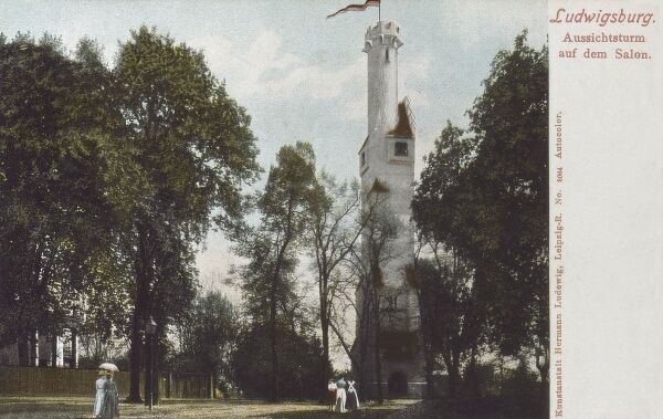 Germany - Ludwigsburg. Aussichtsturm (Observation tower) Date: circa 1903
