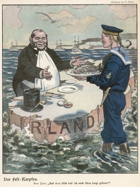 Germany offers Ireland home rule, in the event of a German victory - and in return for Irish co-operation !