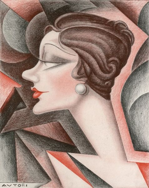 Stylised caricature of Gertrude Lawrence (1898 - 1952), British actress and musical comedy performer at the time she was appearing in Private Lives by Noel Coward at the Phoenix Theatre in London. Date: 1930