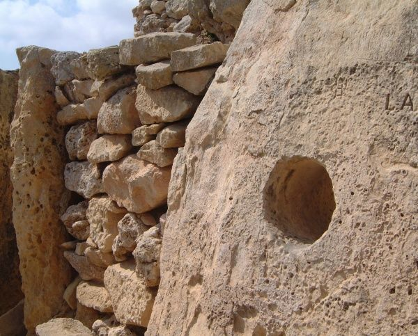 The Ggantija Temples close to Xhagra on Gozo, part of the Maltese archipelago - dated to circa 3000 BC