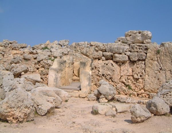 The Ggantija temples close to Xhagra on Gozo on the Maltese archipelago - dated to 3000 BC