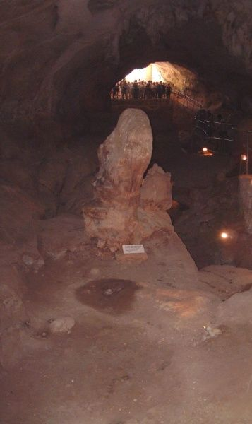 The Ghar Dalam (cave of darkness) a Neolithic site, dated to circa 5000 BC