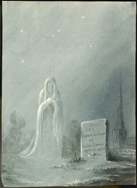 The ghost of Louise Dunois, who died aged 18, haunts the cemetery where she is buried