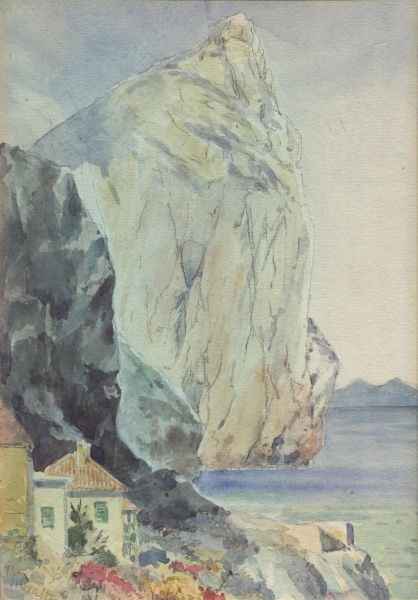 Cliff in Gibraltar.  January 1913