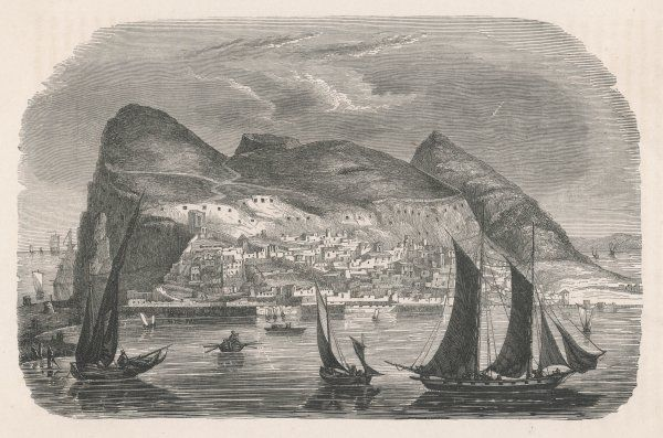 A view of Gibraltar from the harbour