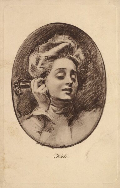 Gibson Girl - Kate (on the telephone) Date: circa 1910s