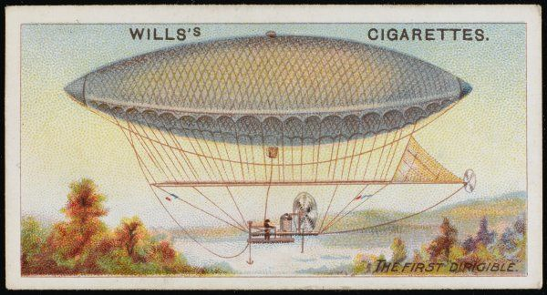 The steam-powered dirigible of Henry Giffard