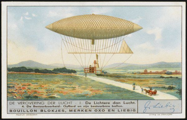 Henry Giffard's steam-powered dirigible - a major step towards the achievement of powered aerial navigation