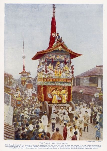 The 'Gion' festival takes place at Kyoto every July