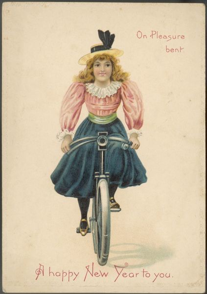 A young girl on her bike