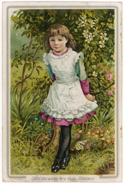 A young girl in a summer field