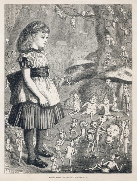 Dolly's Dream. Why would Dolly dream of a little girl surrounded by imps, fairies, plum puddings, toadstools & a miniature town ?
