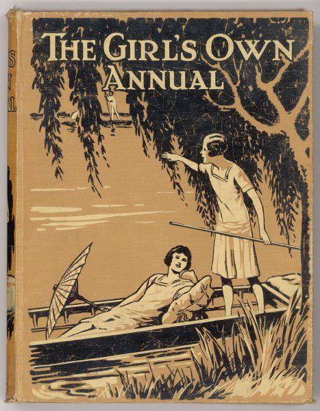 Cover of the Girl's Own Annual for 1930, showing two teenage girls in a punt
