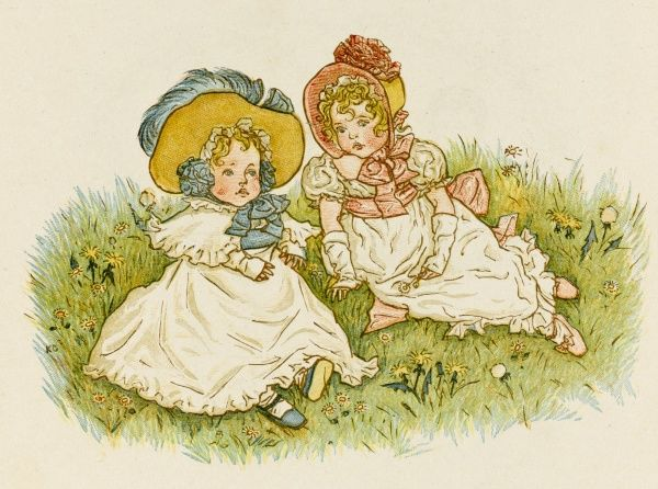 A Victorian Girl and her baby sister