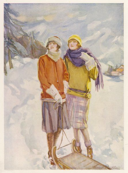 Two girls in the snow