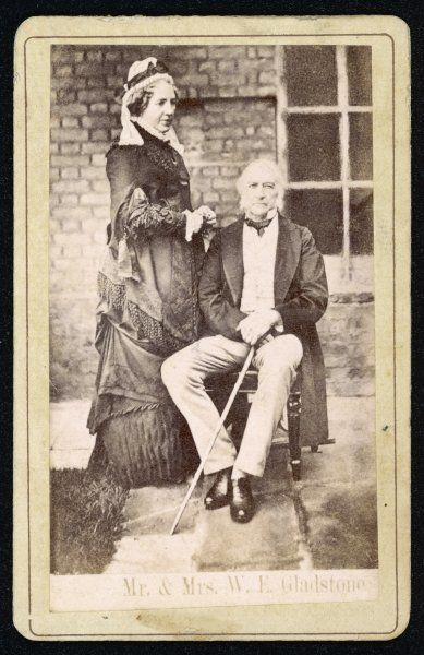 WILLIAM EWART GLADSTONE statesman, photographed with his wife