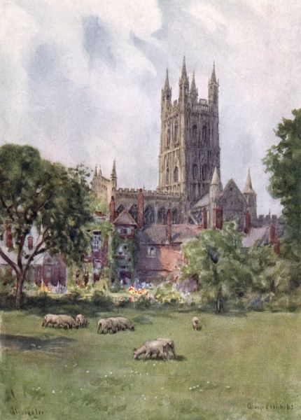 Gloucester Cathedral Date: 1927