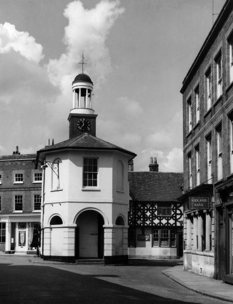 The Old Town Hall, Godalming, Surrey, England. This quaint little building is now a museum, full of interesting relics of olden days. Date: built 1814