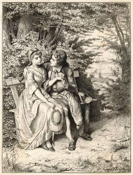 JOHANN WOLFGANG VON GOETHE German writer, as a young man, with his friend Friederike Brion
