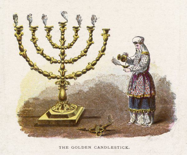 Ceremonial objects : THE GOLDEN CANDLESTICK