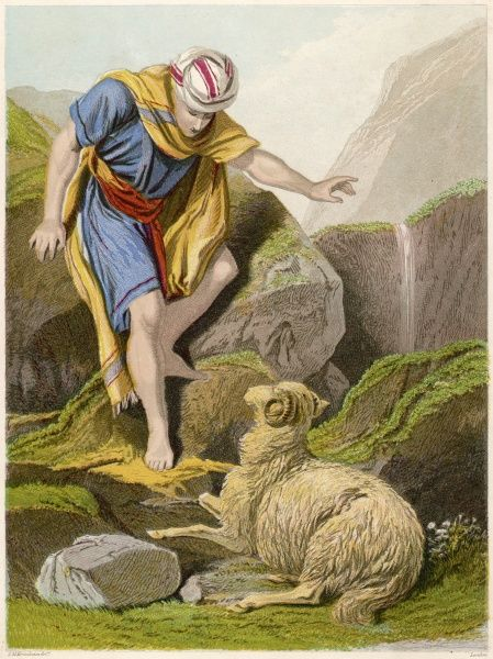 The parable of THE GOOD SHEPHERD finding the lost sheep