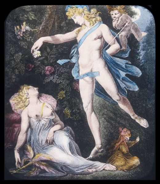 Oberon and Titania, from Shakespeare's Midsummer Night's Dream