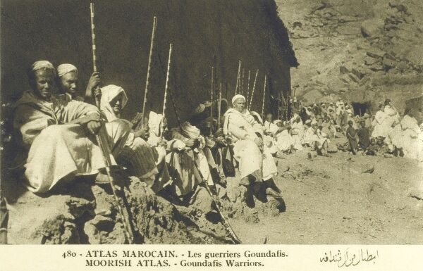 Goundafi Warriors of the Atlas Mountains, Morocco Date: circa late 1920s