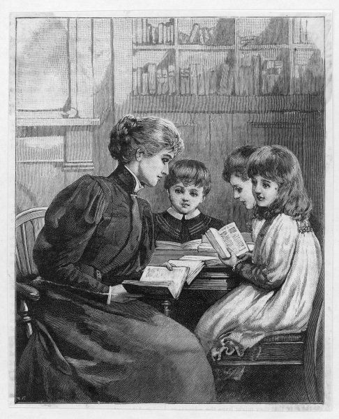 A governess with three pupils