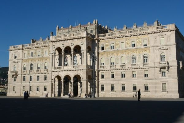 A large government building in the Piazza dell'Unita d'Italia, Trieste, north east Italy