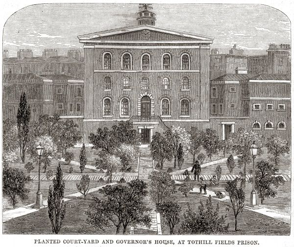 Governor's house at Middlesex House of Correction, Tothill Fields, Westminster Date: 1862